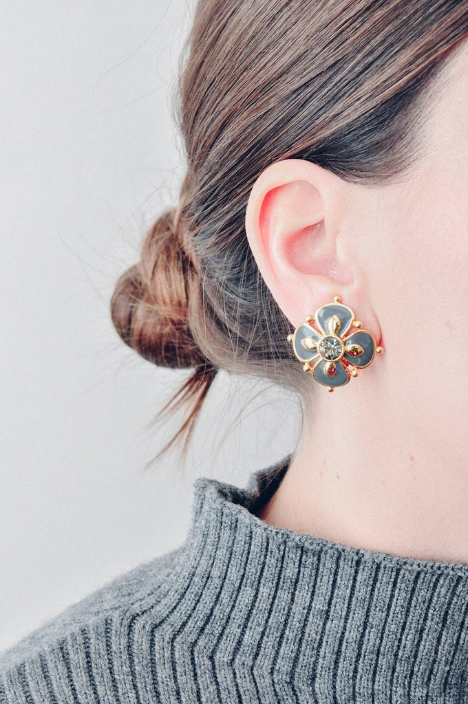 Pop Floral Clip-on Earrings
