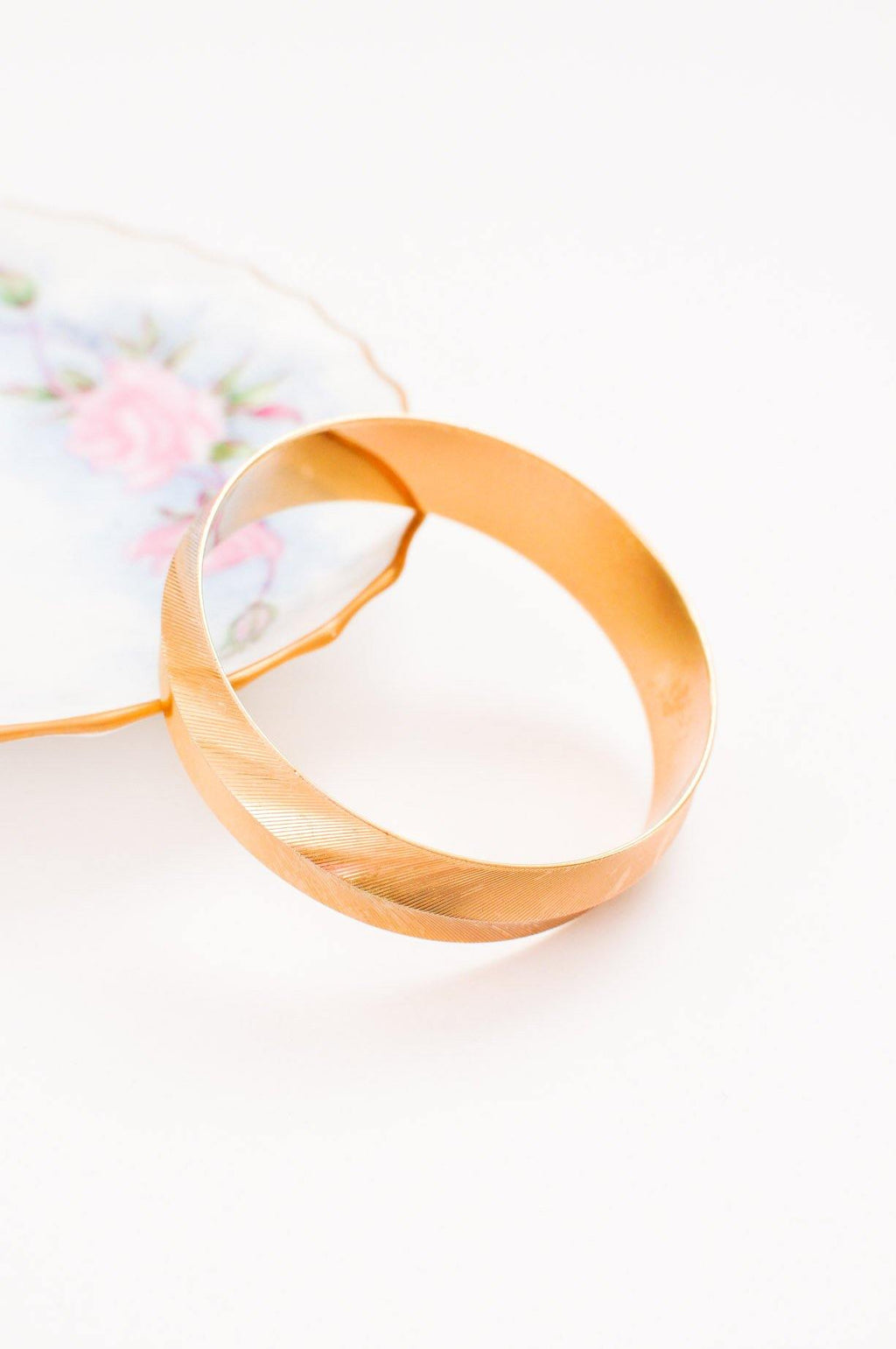 Etched Bangle Bracelet