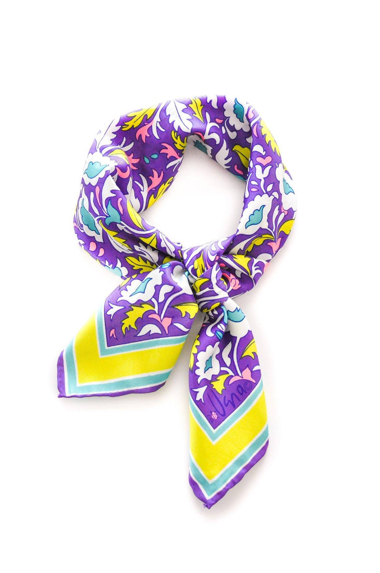Bright Florals Square Scarf