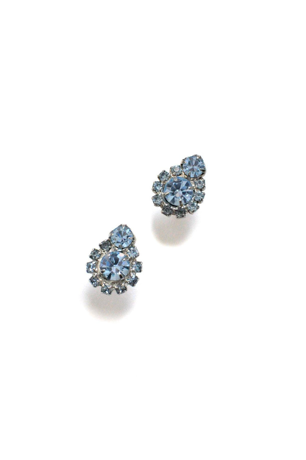 Light Blue Clip-on Earrings