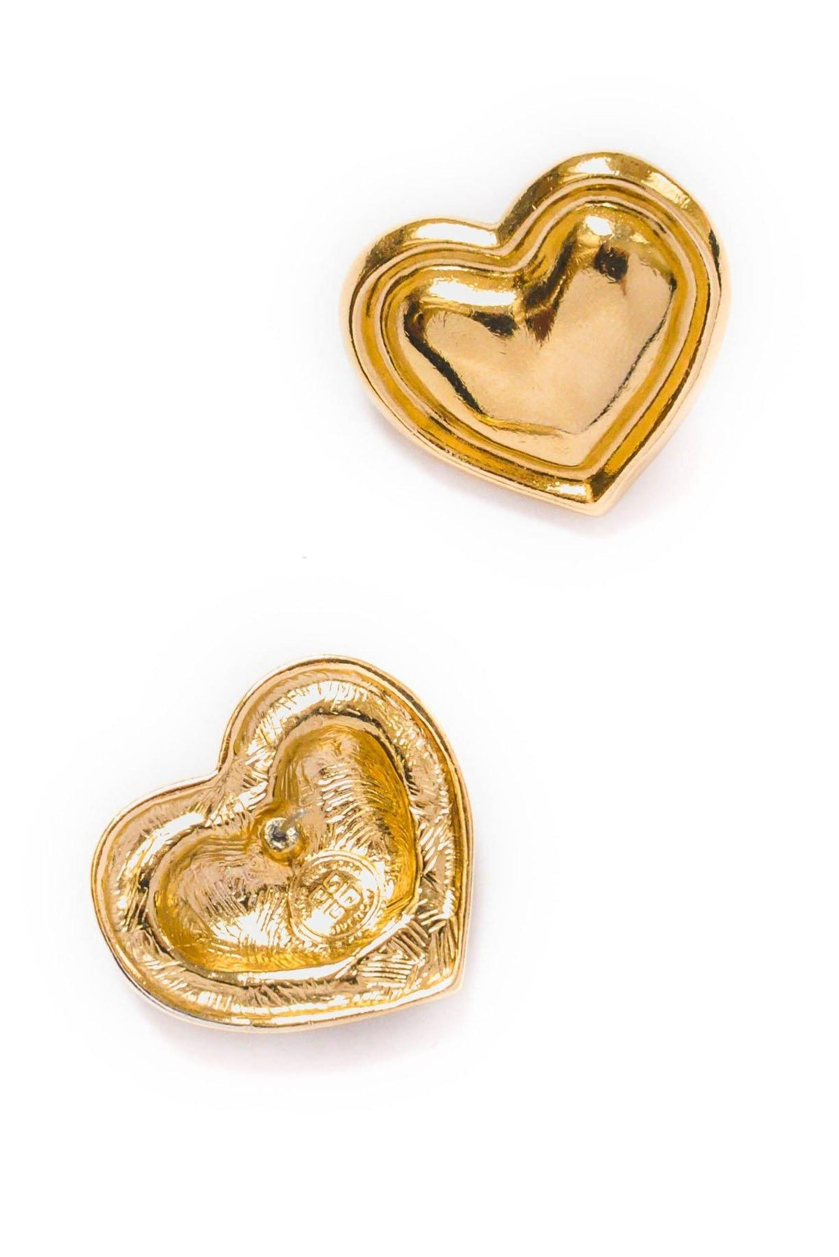 Vintage Givenchy Heart Pierced Earrings from Sweet and Spark