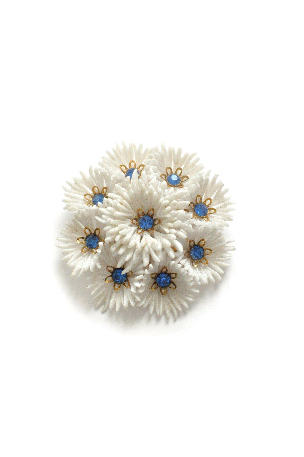 Blue Floral Burst Brooch