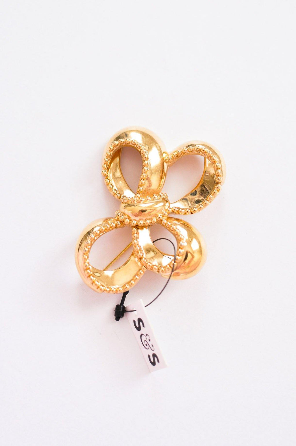Monet Gold Bow Brooch