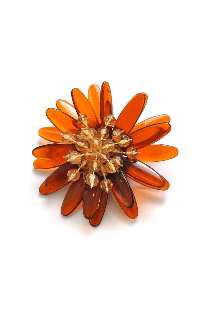 Amber Burst Brooch