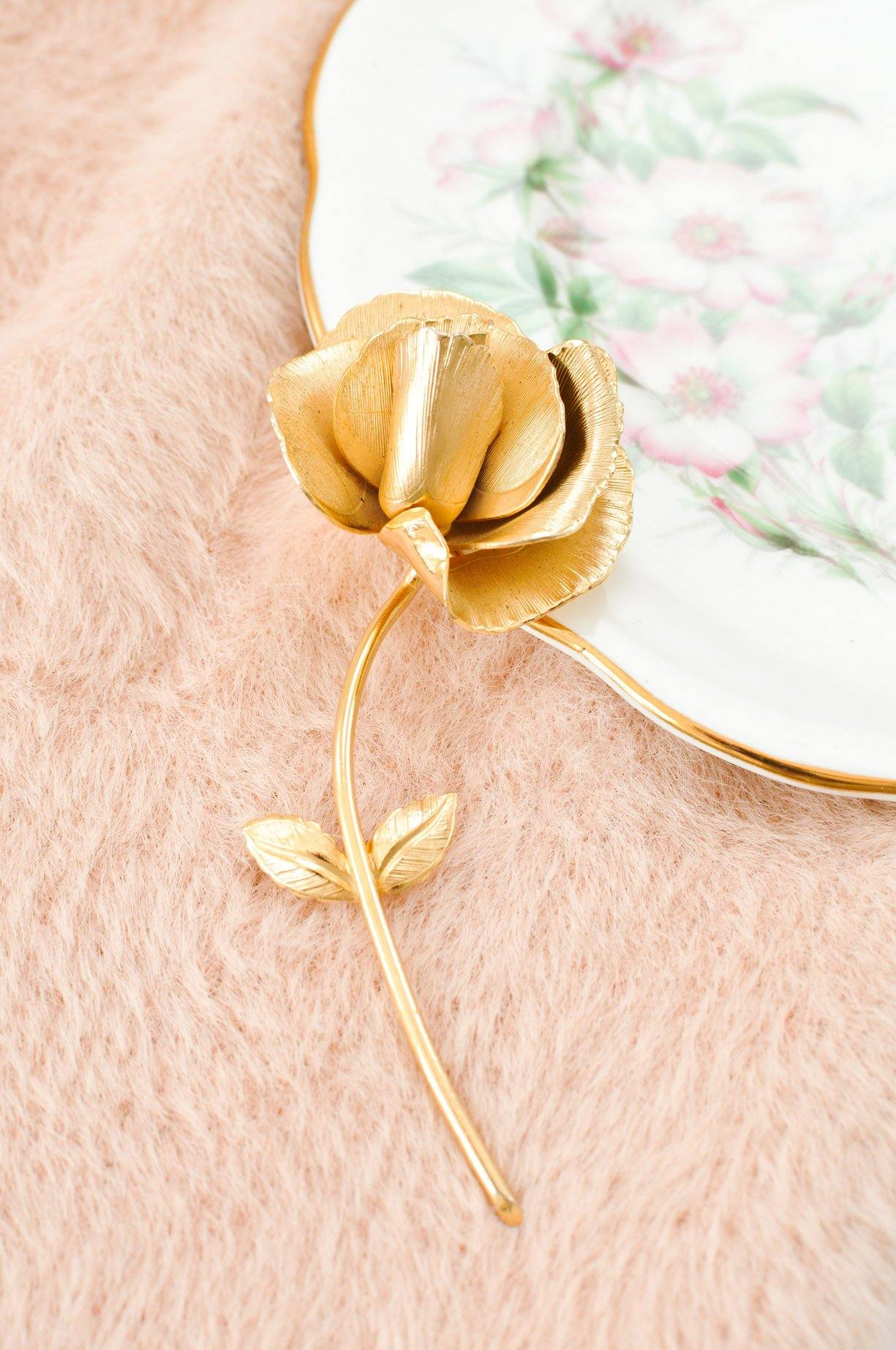 Rose Stem Brooch