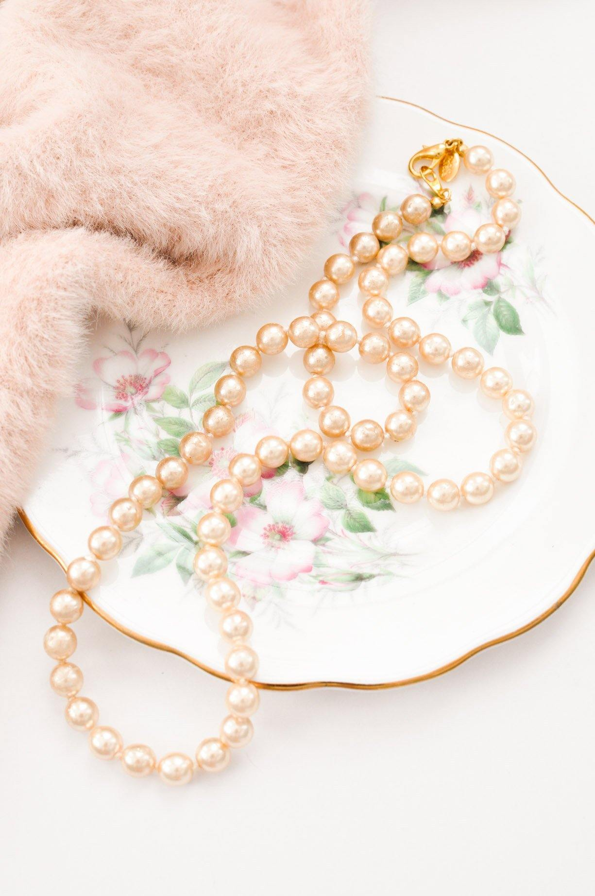 Classic Pearl Layering Necklace - Sweet & Spark