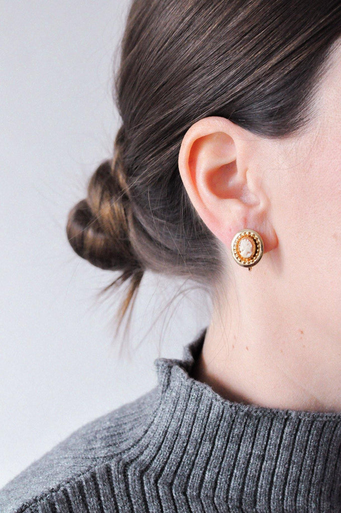 Cameo Clip-on Earrings