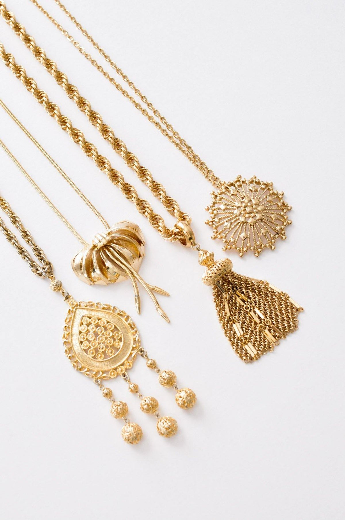 Vintage statement pendant necklaces from Sweet & Spark.