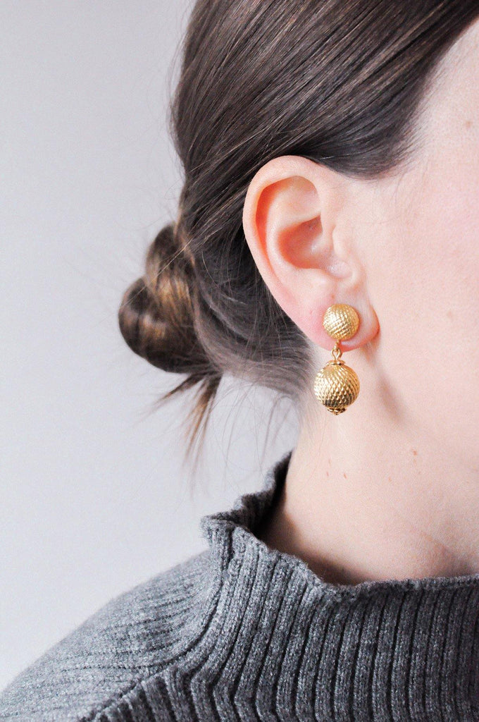 Ball Drop Clip-on Earrings