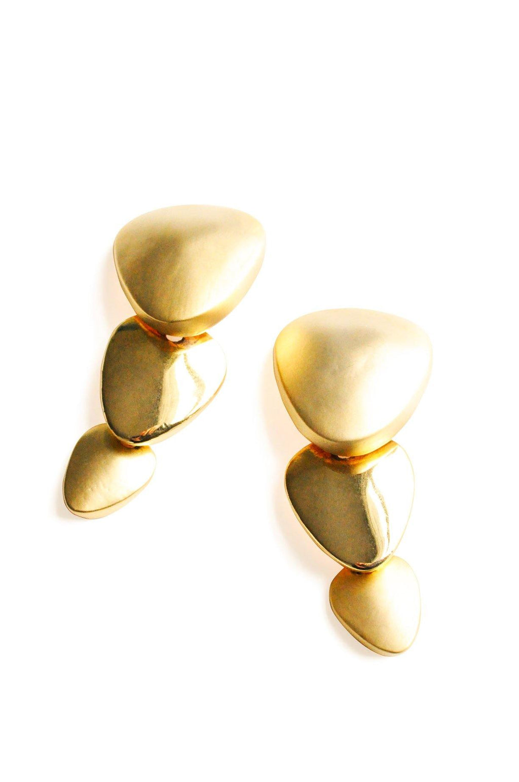 Gold Drop Clip-on Earrings
