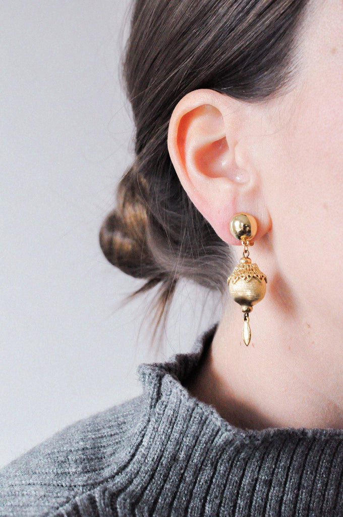Bulb Drop Clip-on Earrings