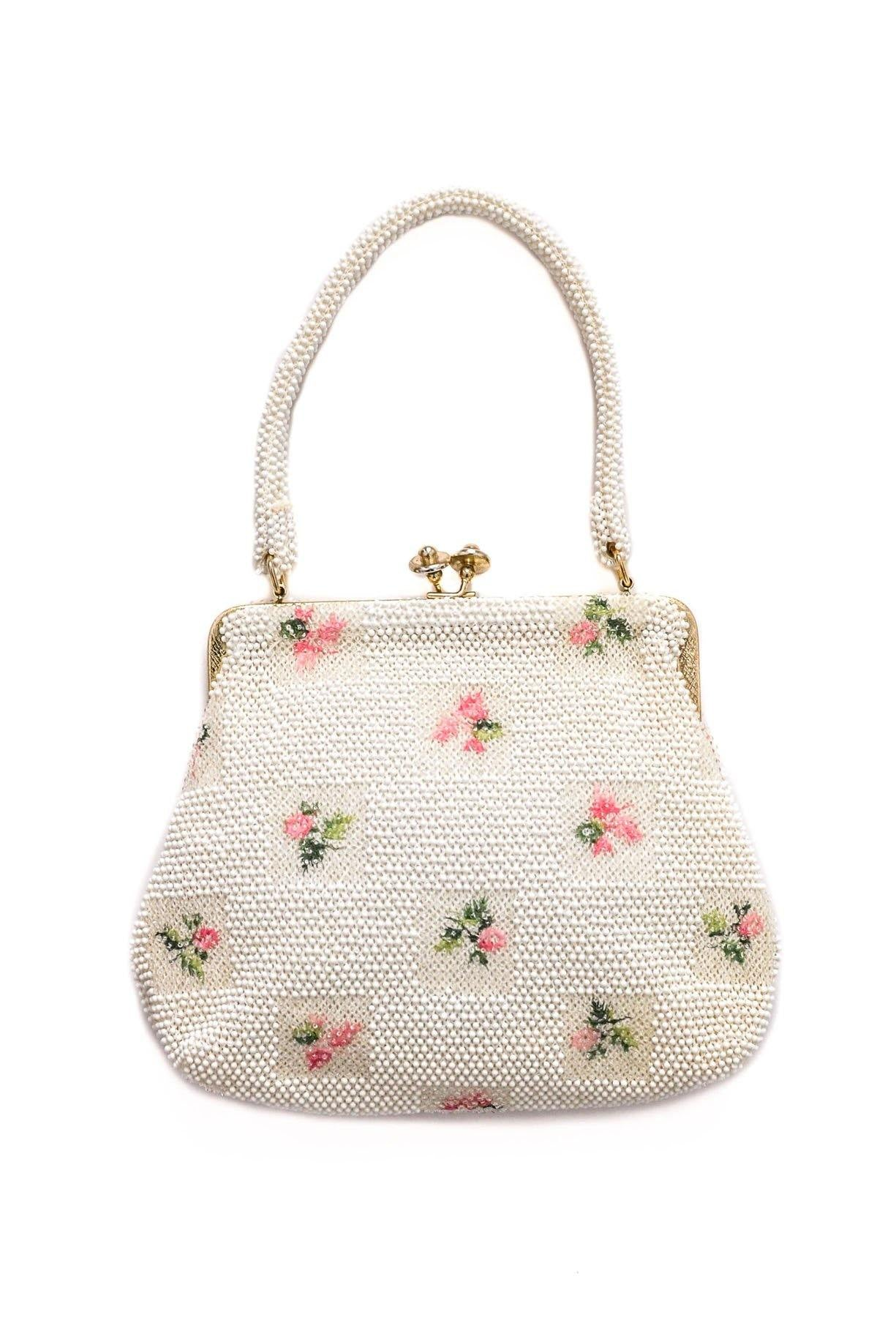 Vintage beaded top handle bag from Sweet & Spark.