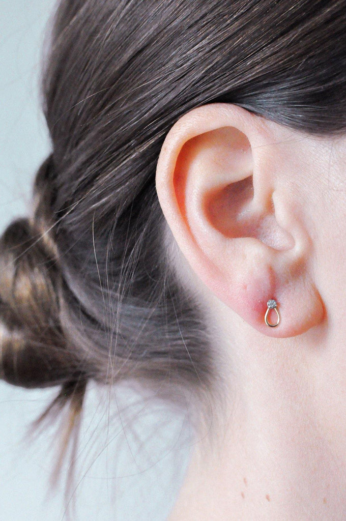 Mini Loop Pierced Earrings