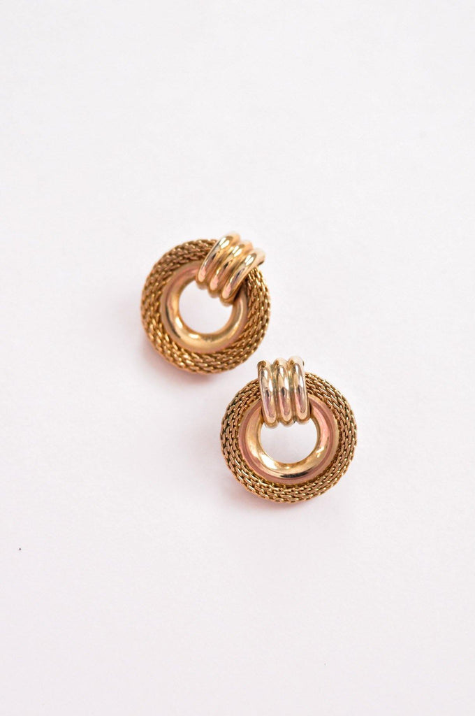 Mesh Ring Pierced Earrings