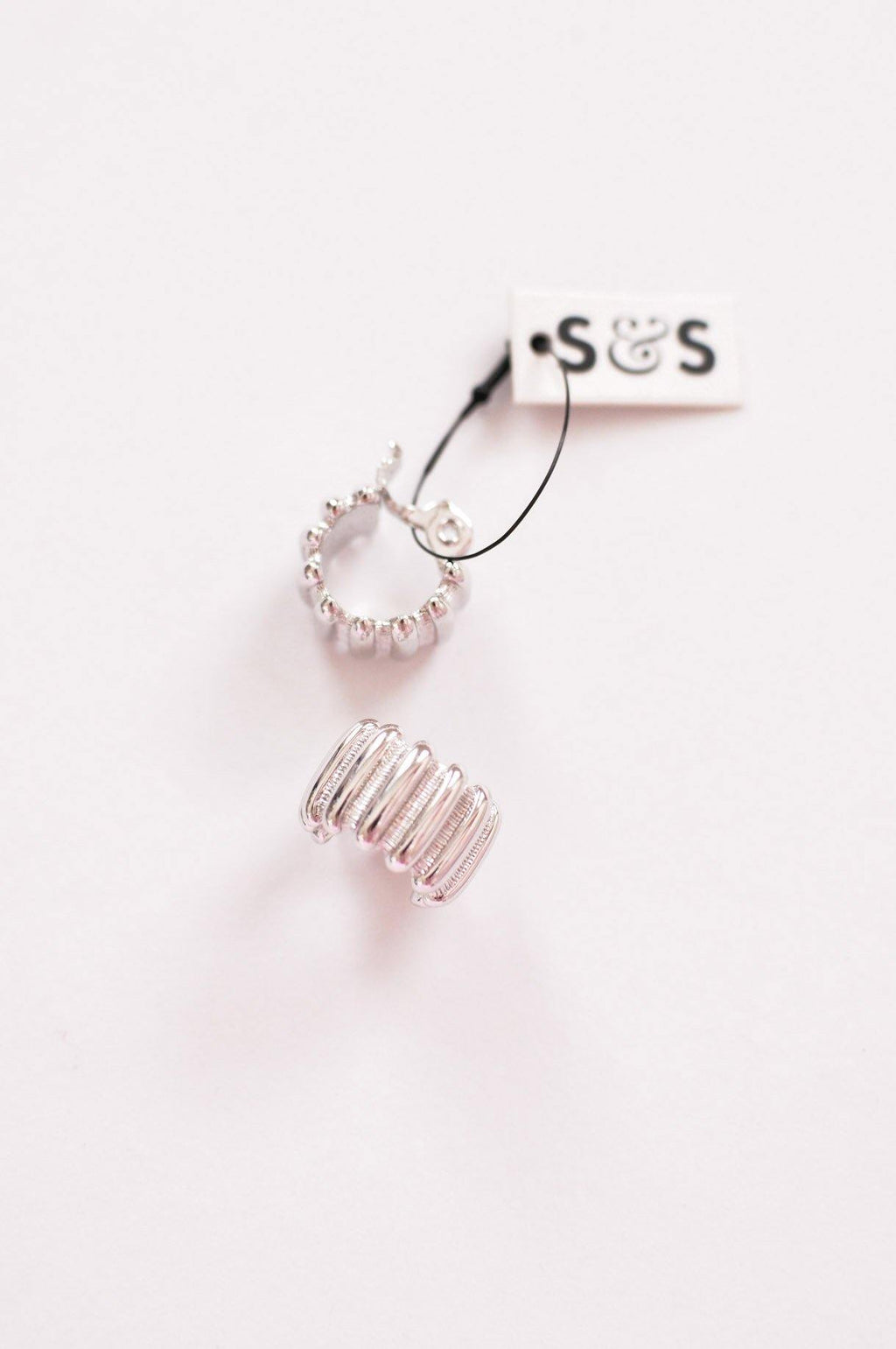 Silver Hoop Clip-on Earrings