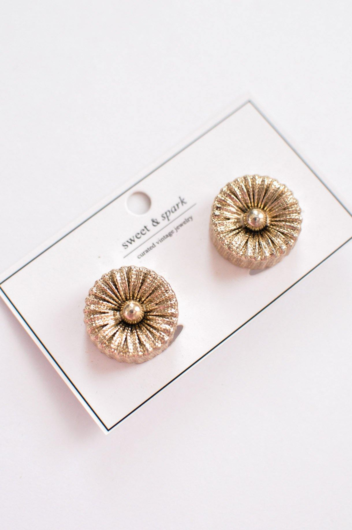 Button Clip-On Earrings