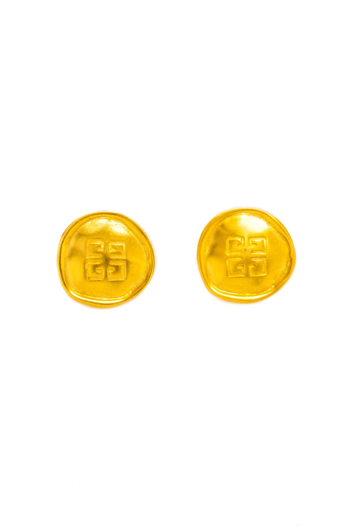 Vintage Givenchy Matte Coin Clip-on Earrings from Sweet and Spark