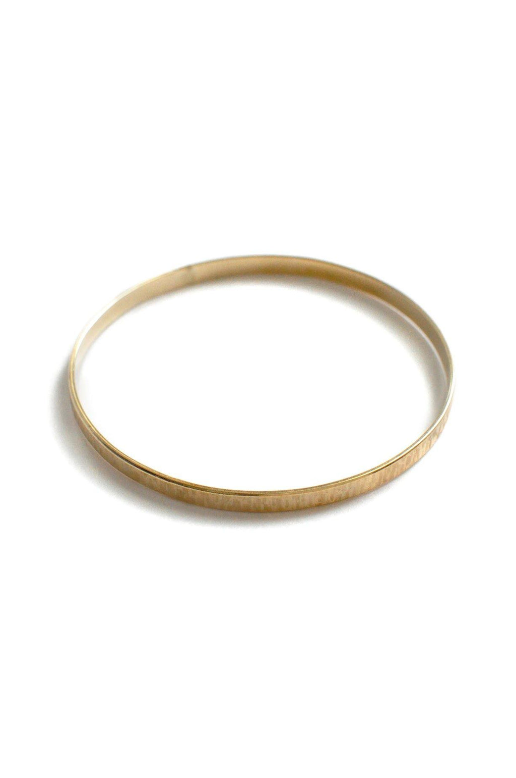 Dainty Etched Bangle Bracelet