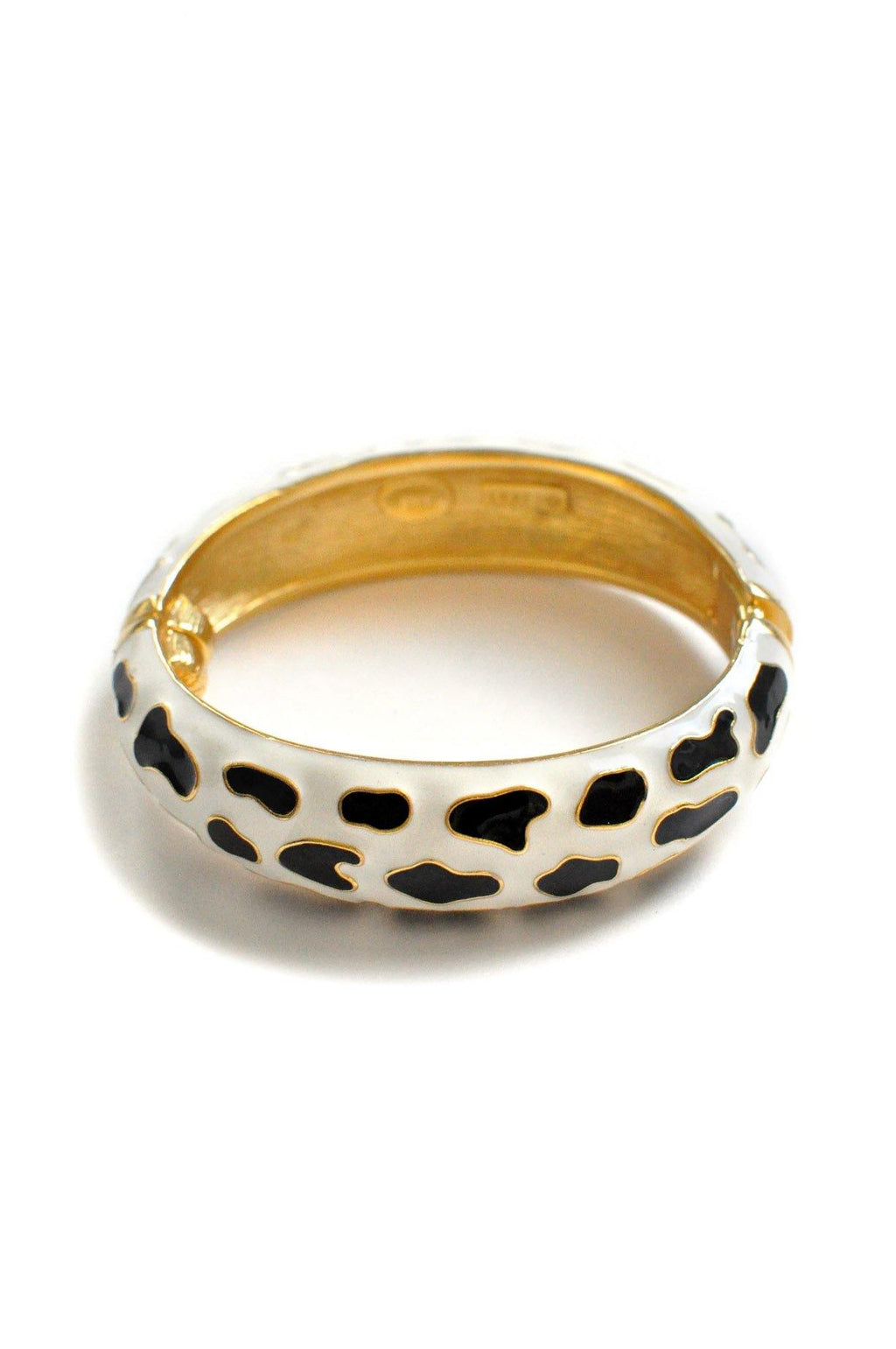 Spotted Enamel Bangle Bracelet
