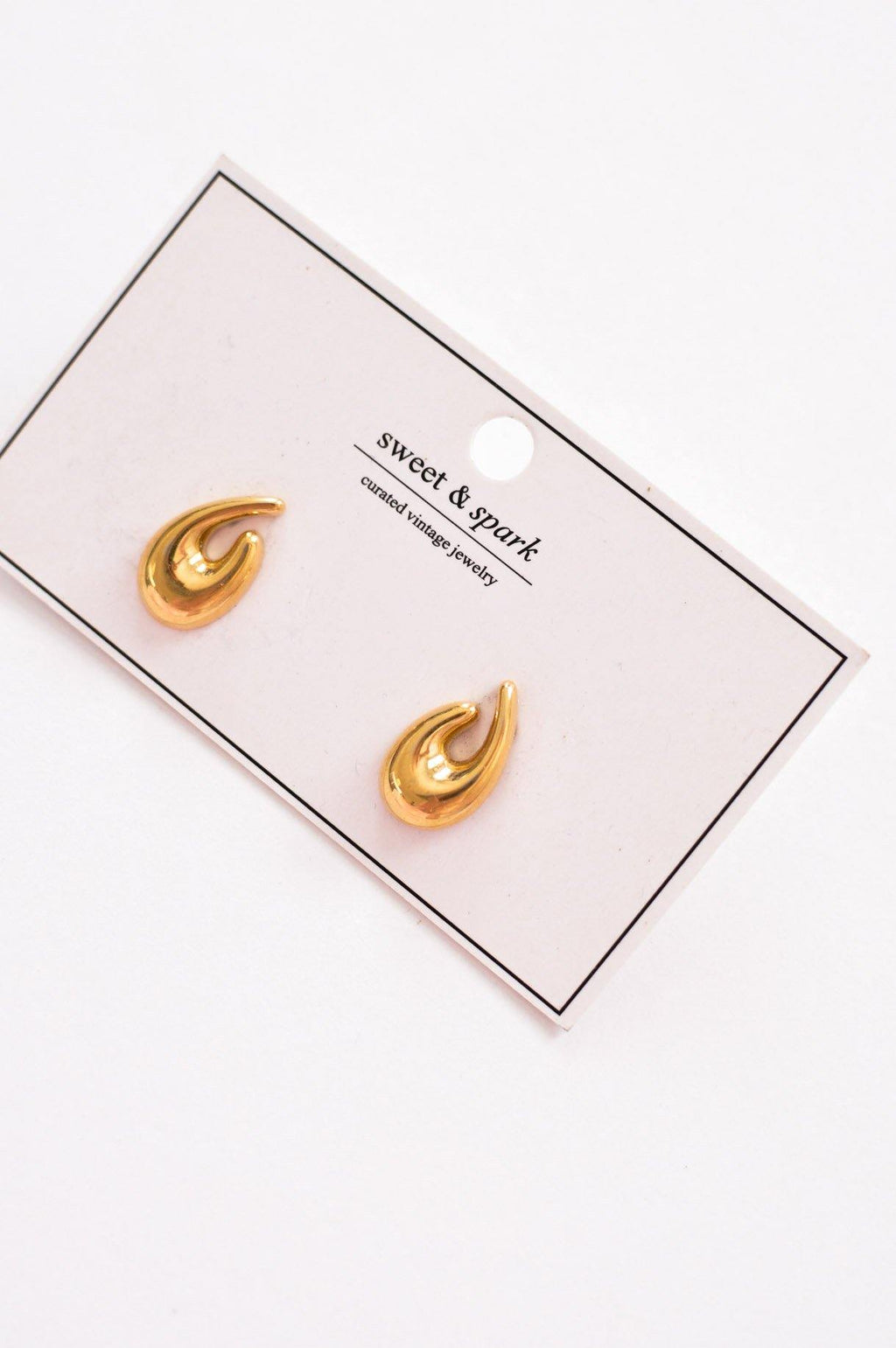 Monet Gold Pierced Earrings