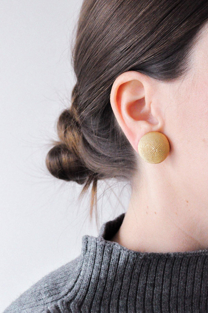 Chain Dome Clip-on Earrings