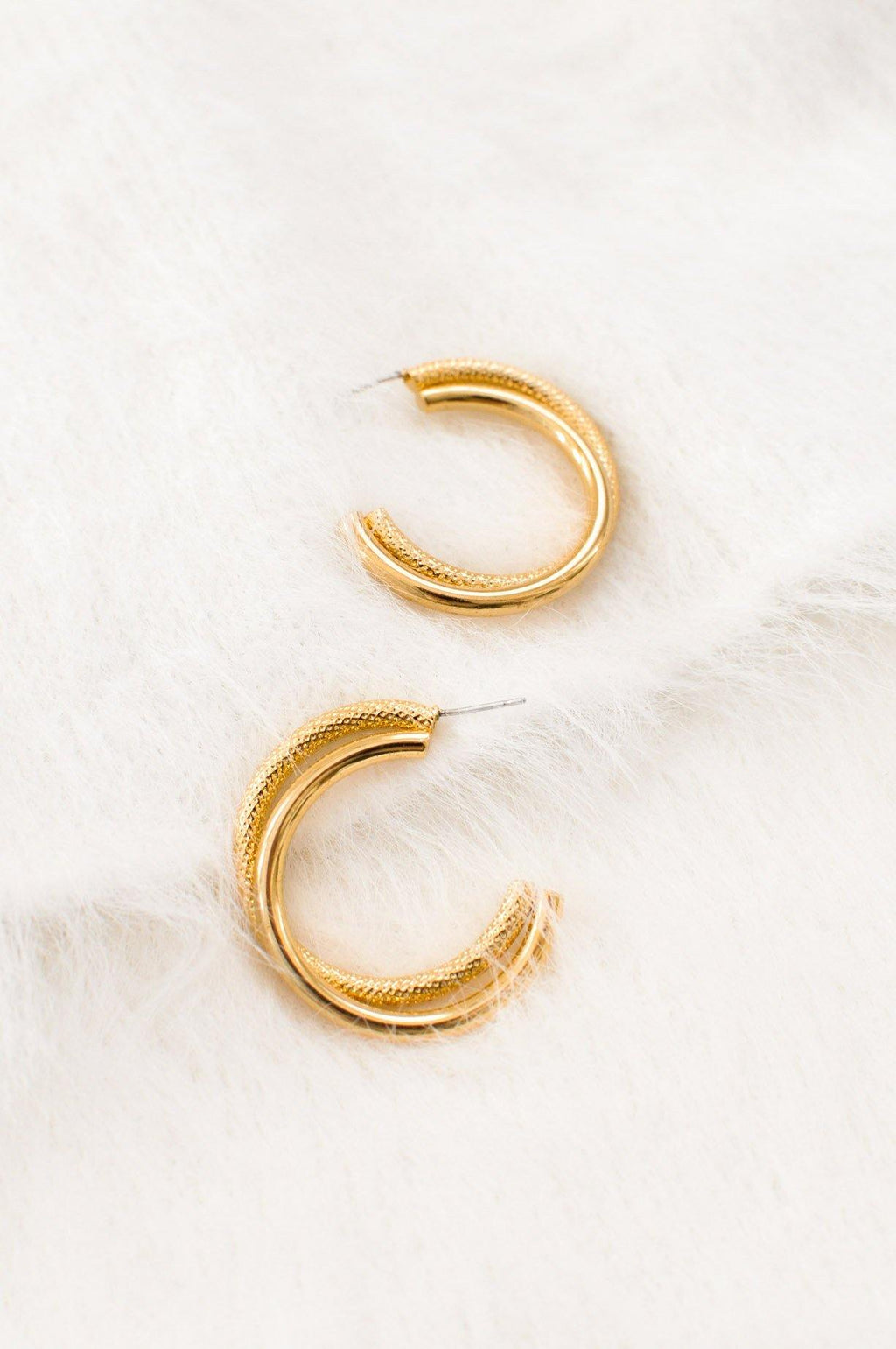 Twisted Hoop Pierced Earrings