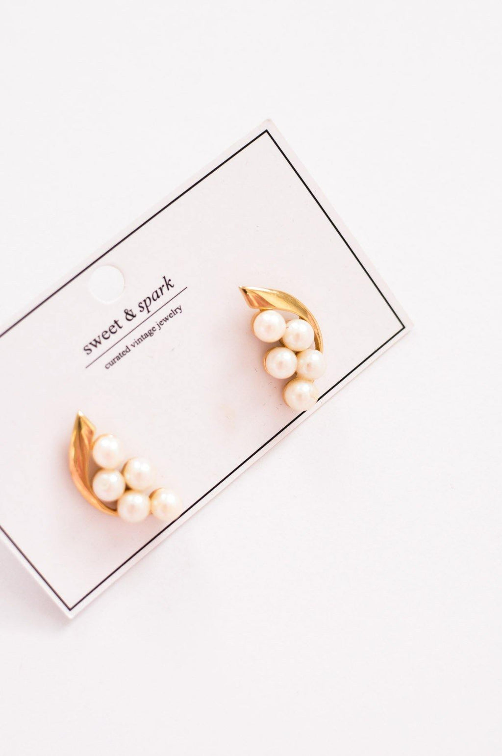 Pearl Crawler Pierced Earrings