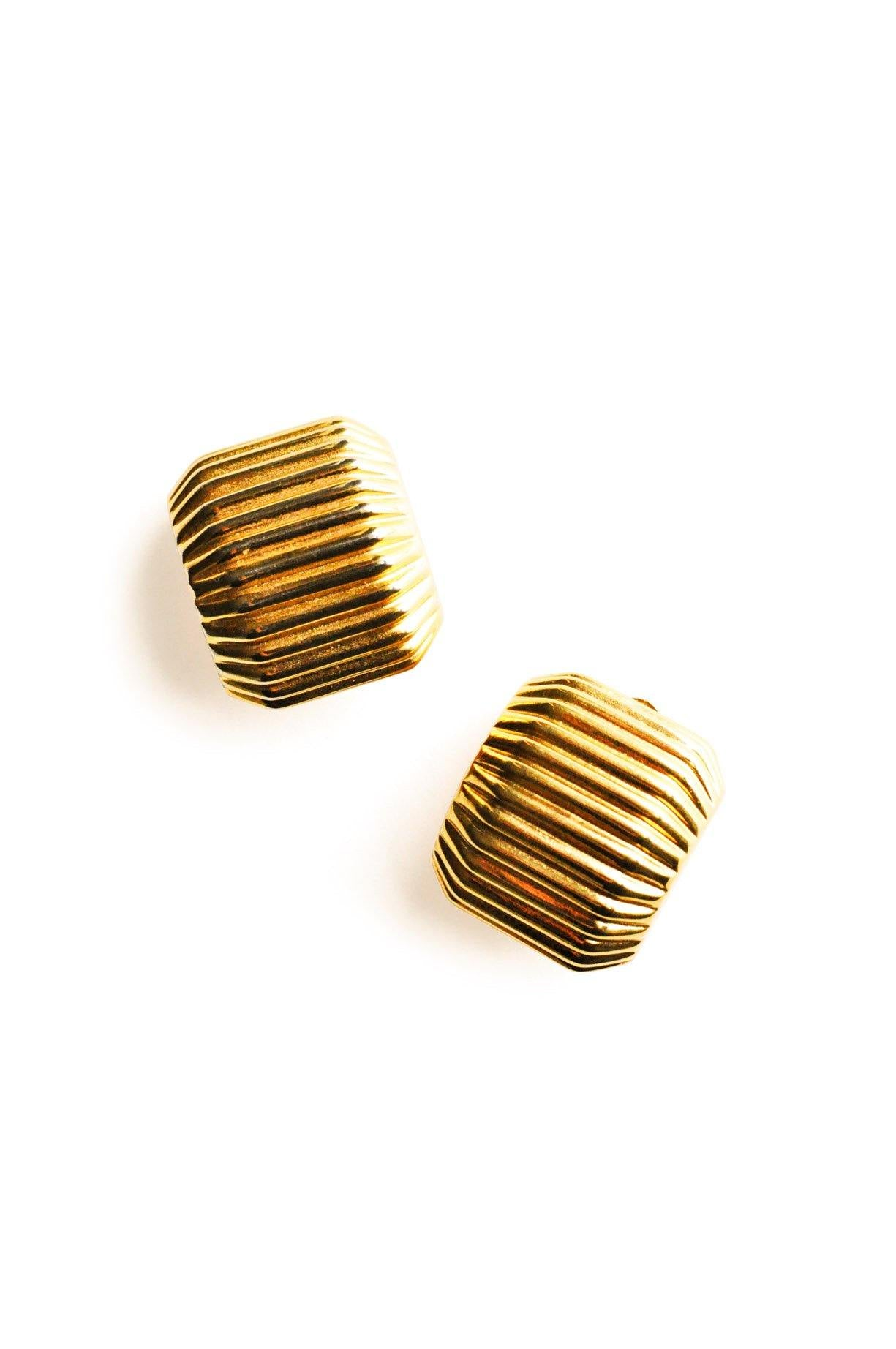 Ribbed Clip-On Earrings