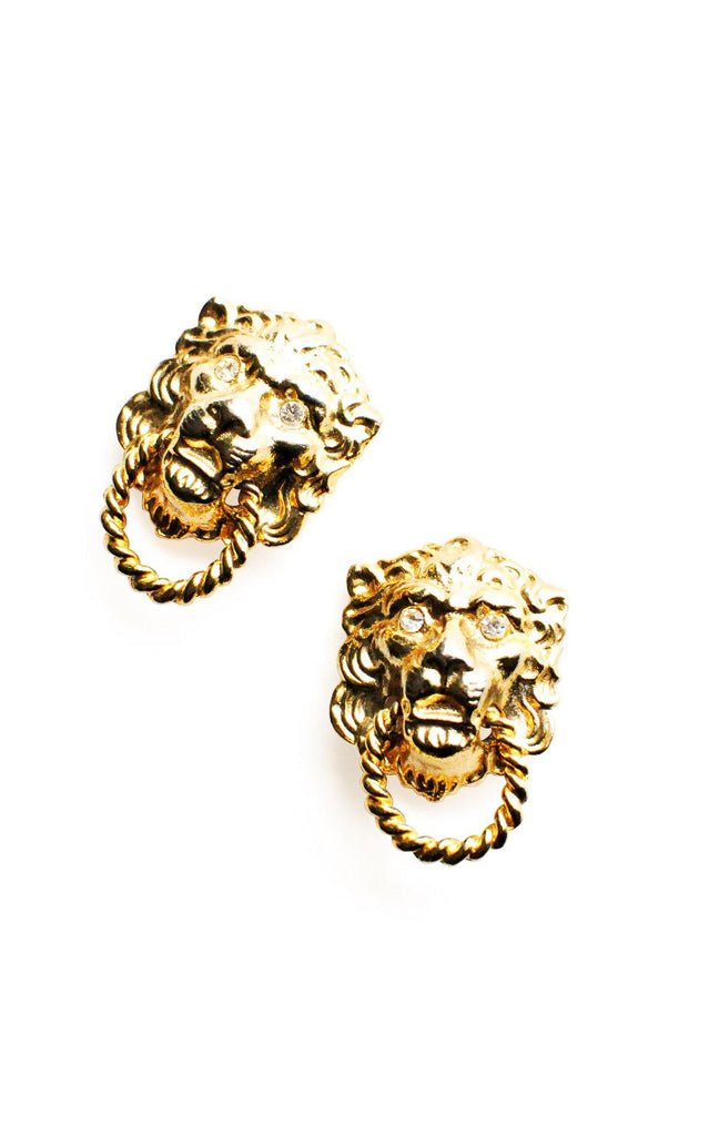 Lion Door Knocker Clip-on Earrings