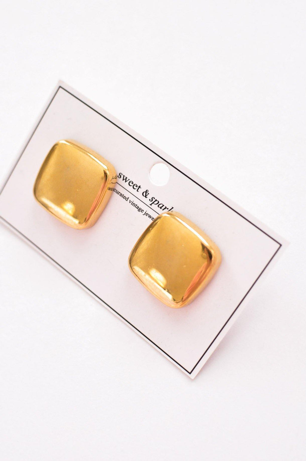 Square Stud Clip-On Earrings