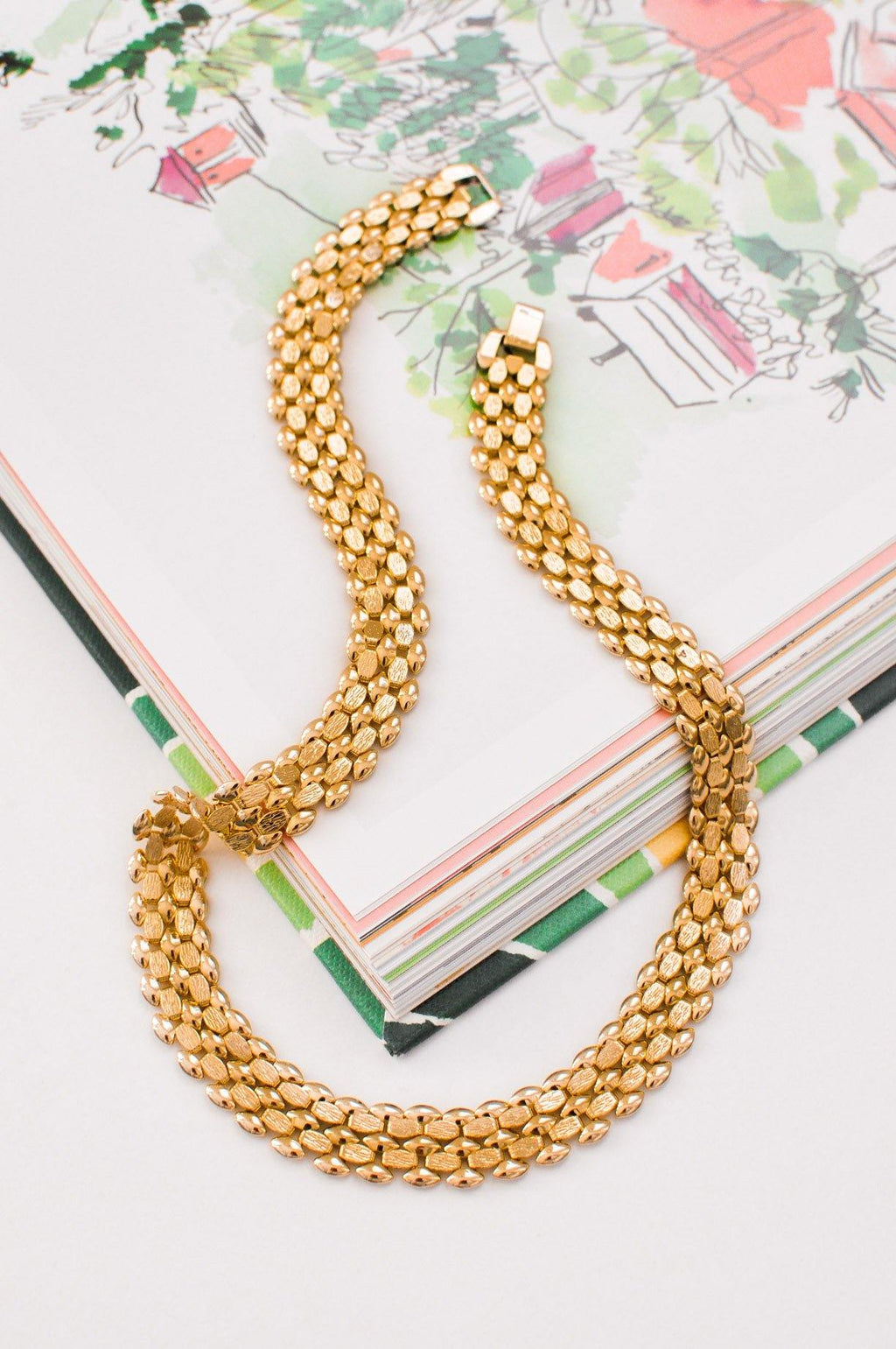 Flat Herringbone Necklace