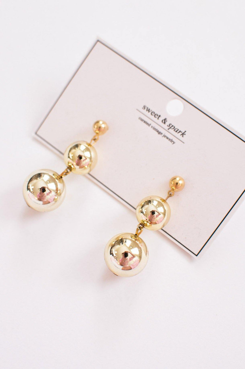 Ball Drop Pierced Earrings
