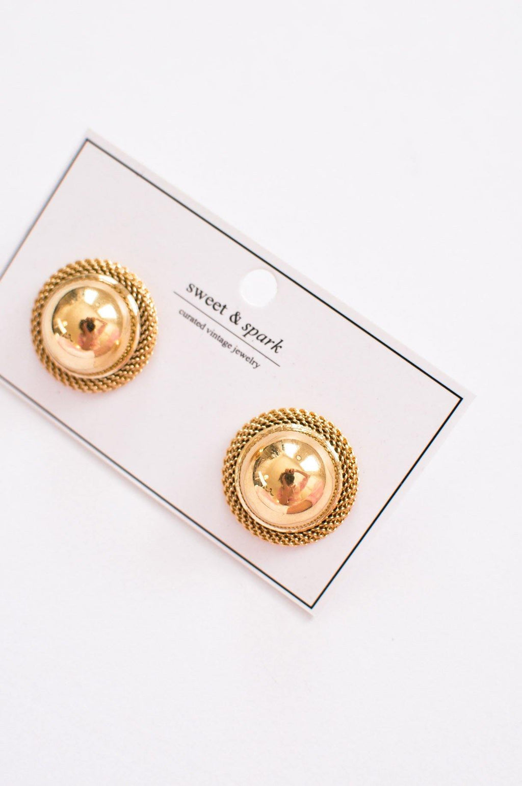 Bold Gold Clip-on Earrings
