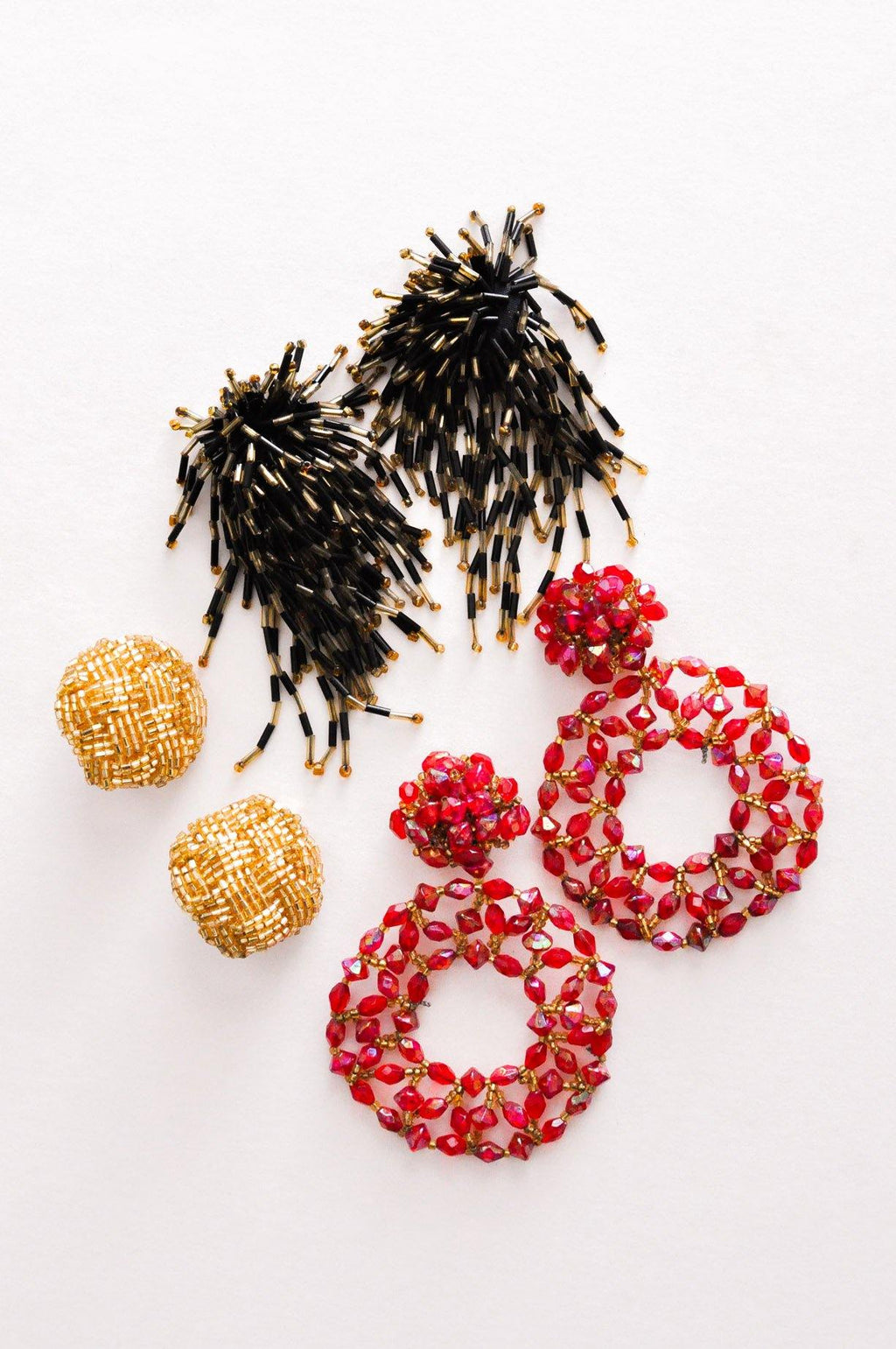 Beaded Confetti Clip-on Earrings