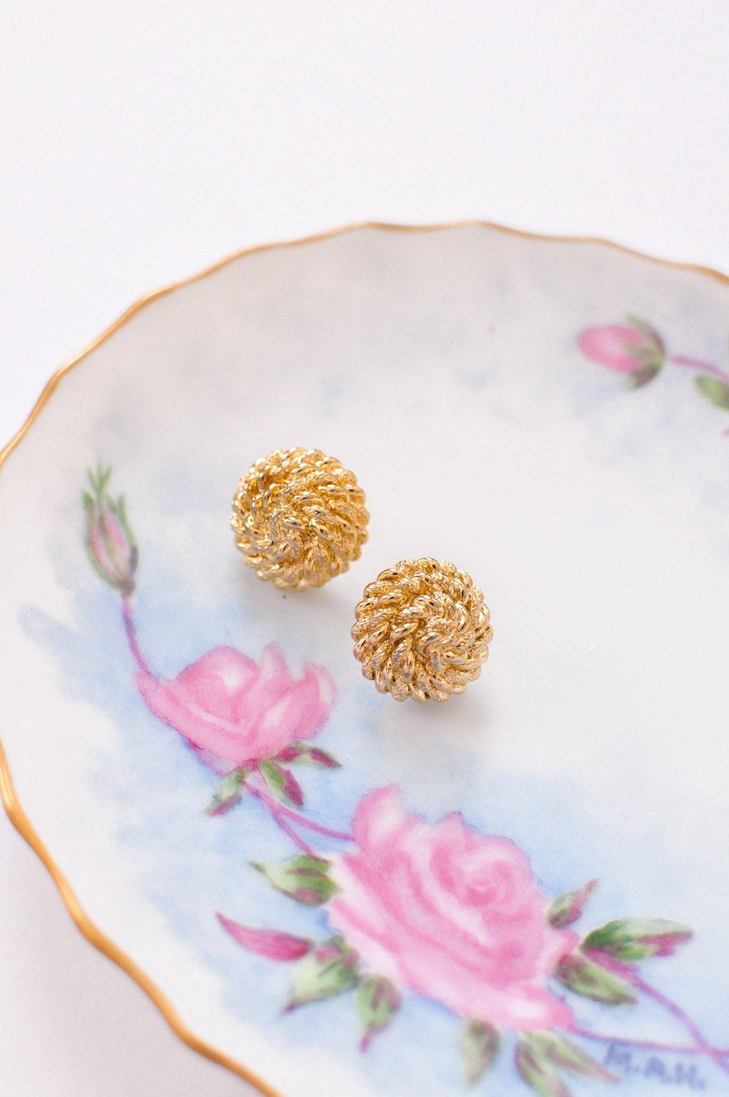Rope Ball Pierced Earrings