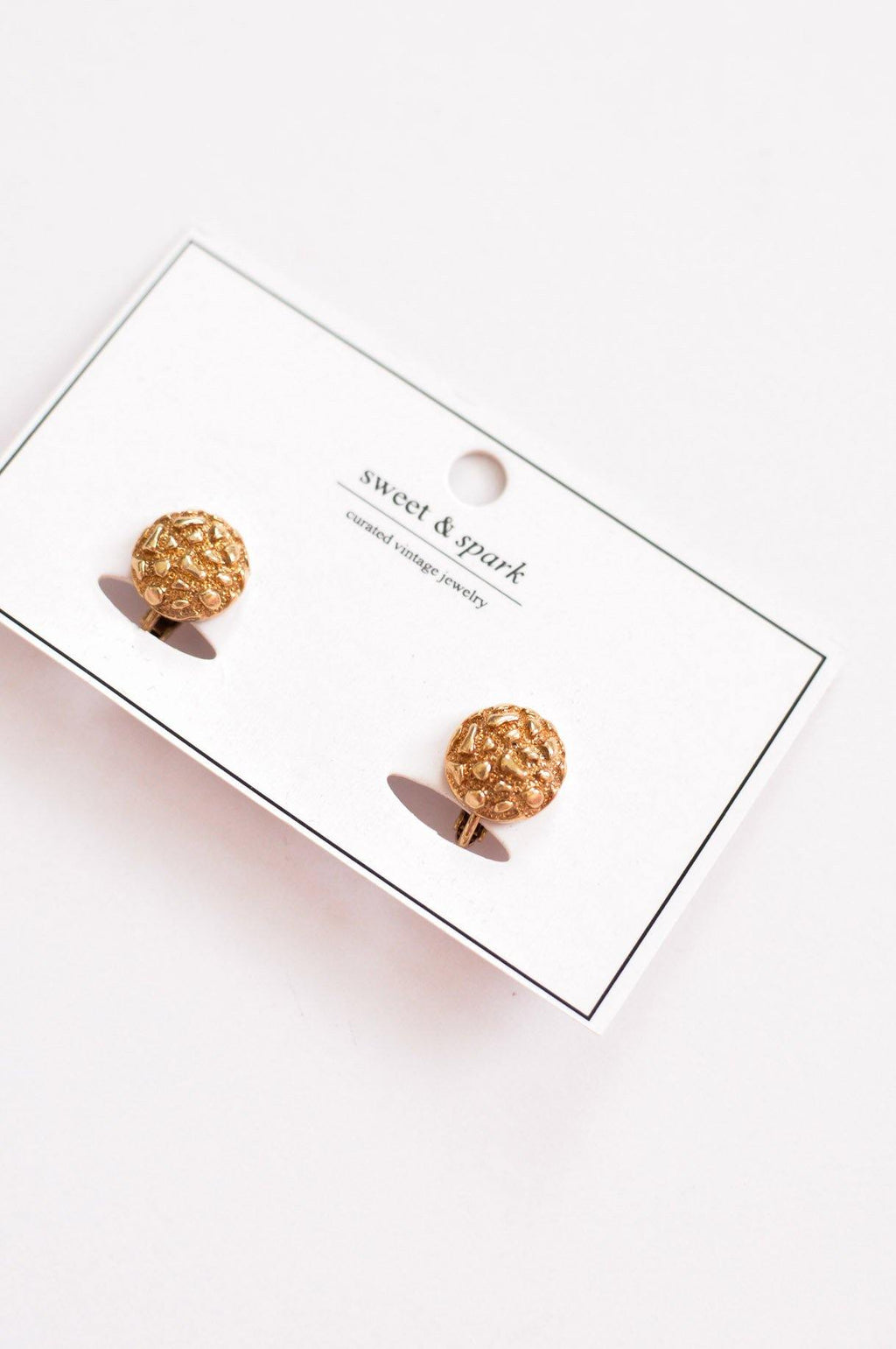 Textured Round Clip-on Earrings