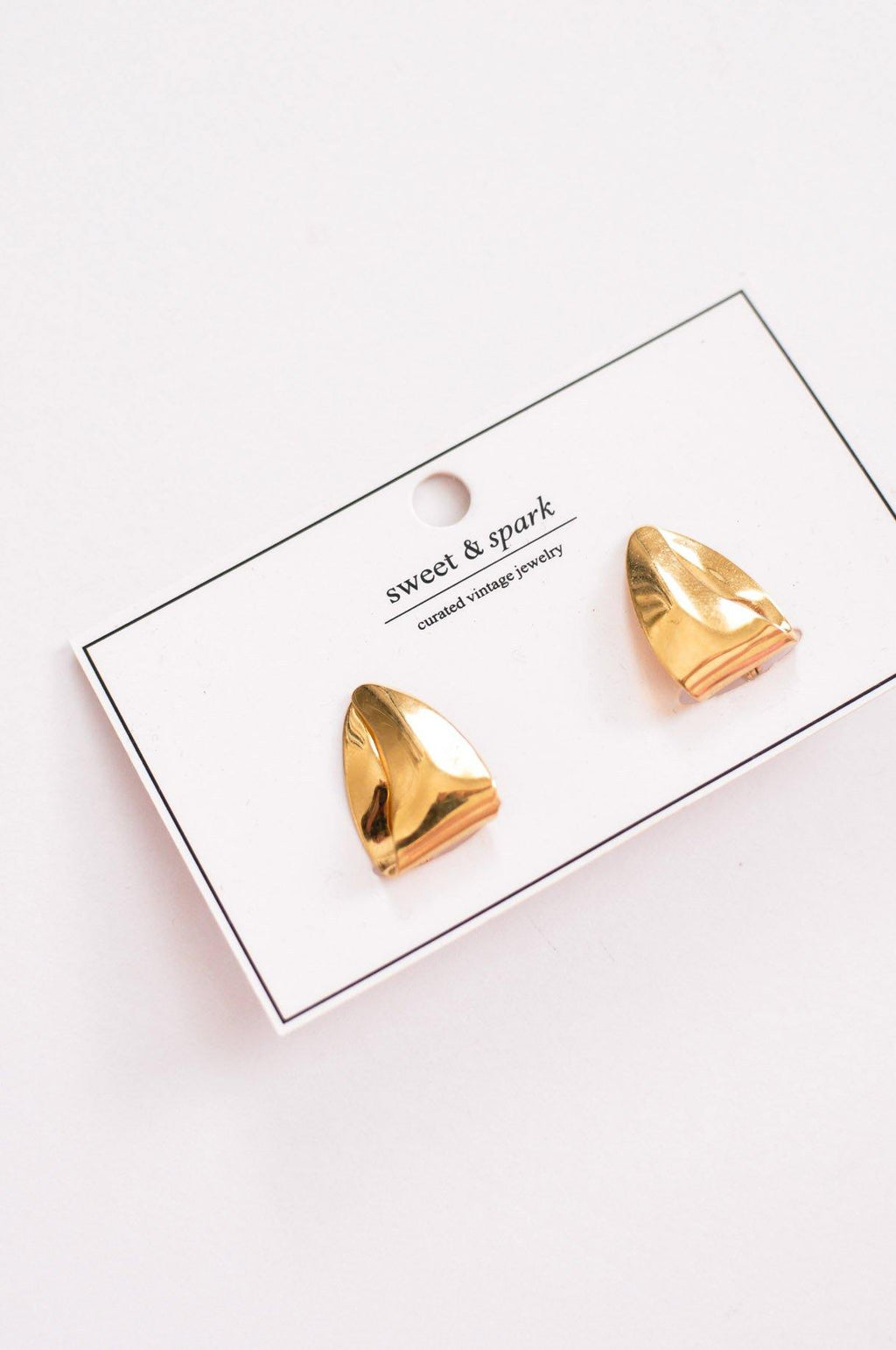 Bold Triangle Clip-on Earrings