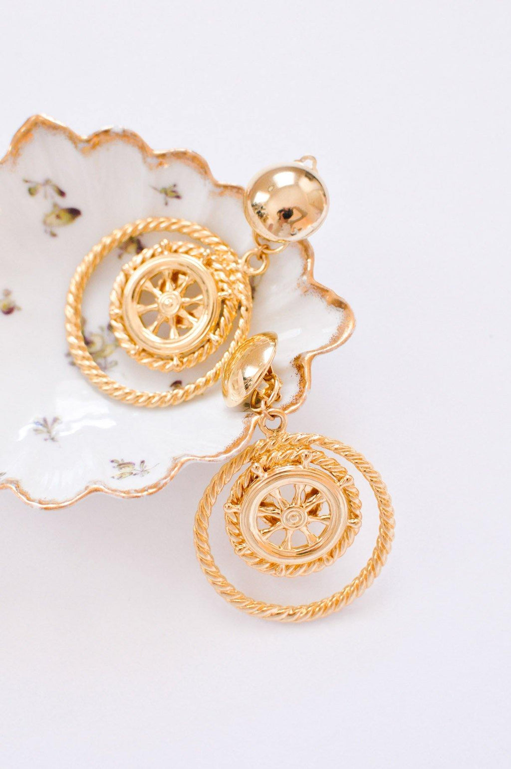 Nautical Statement Clip-on Earrings