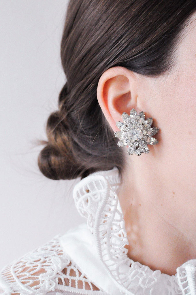 Fancy Statement Burst Clip-on Earrings