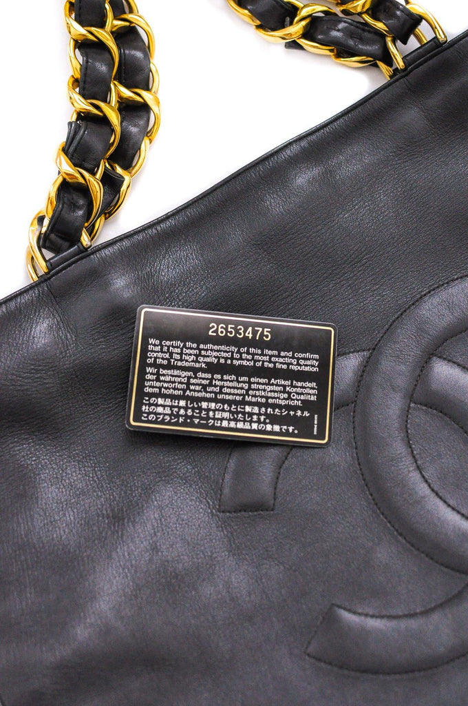 Chanel CC Black Tote Bag