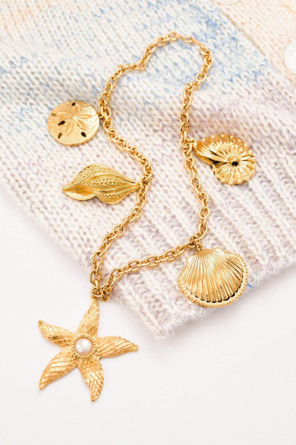 Kenneth Jay Lane Statement Seaside Necklace