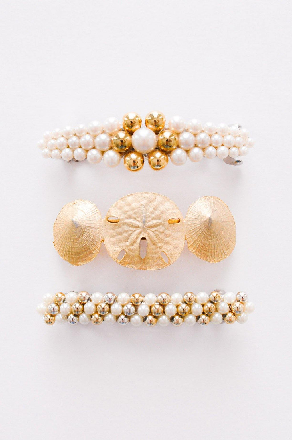 Pearl & Gold Hair Barrette