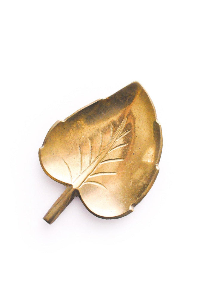 Brass Leaf Jewelry Dish