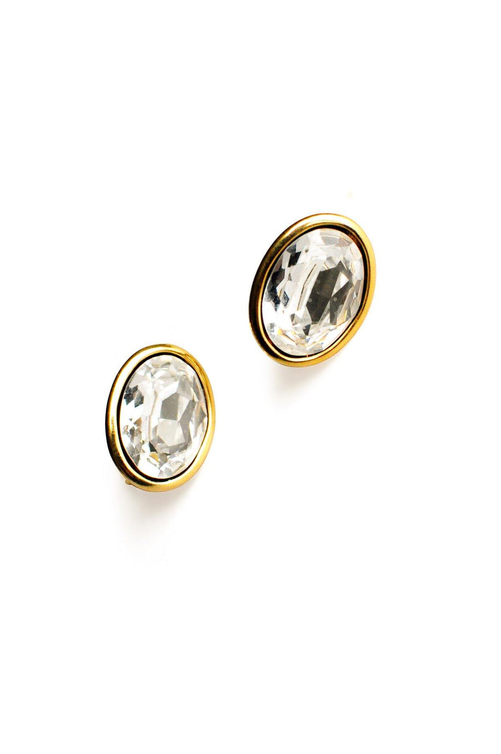 Napier Rhinestone Clip-On Earrings