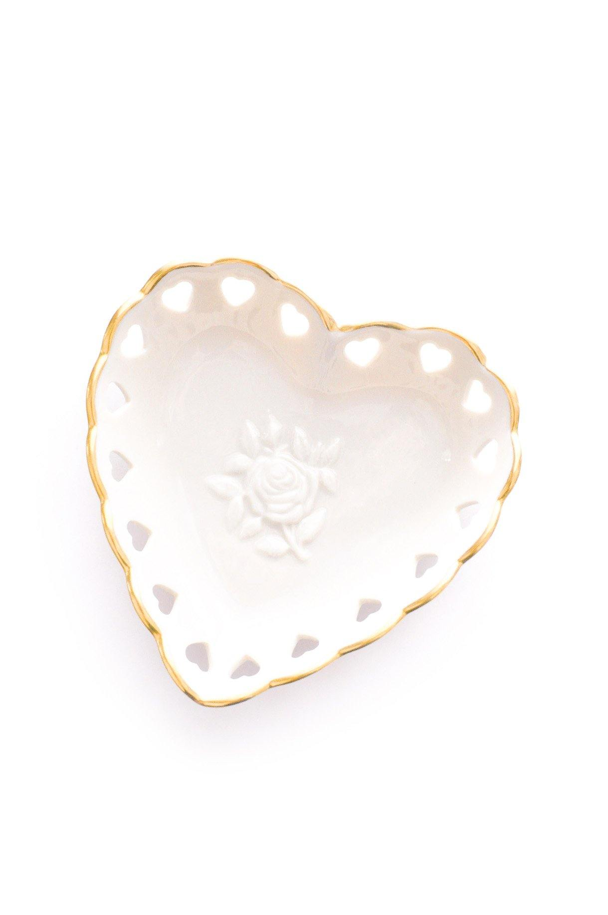 Heart Cutout Jewelry Dish