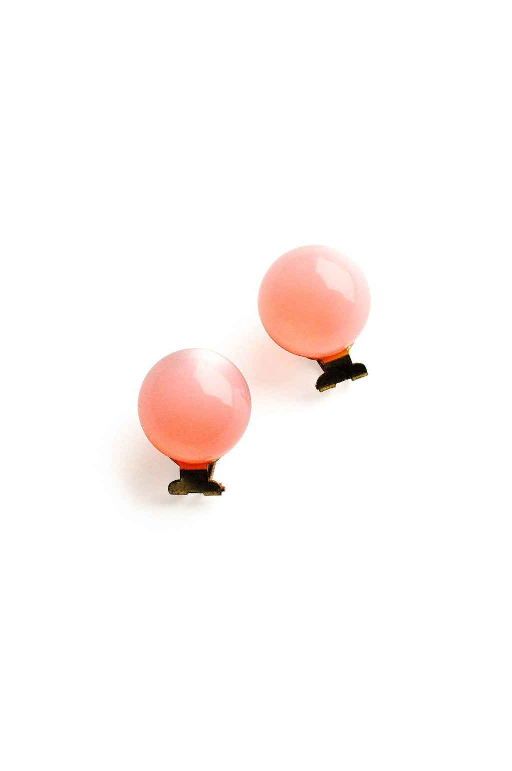 Pink Statement Stud Clip-On Earrings