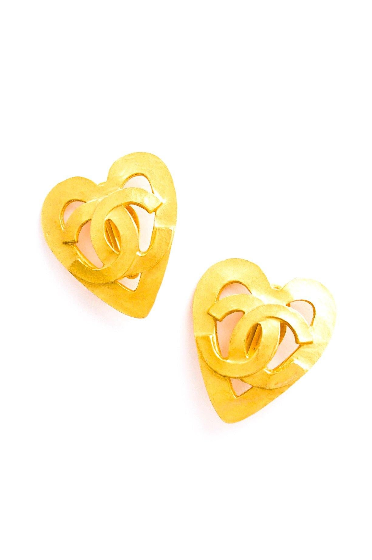 Chanel Statement Heart Clip-on Earrings