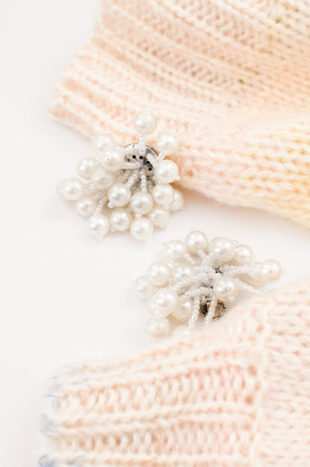 Pearl Fringy Clip-on Earrings