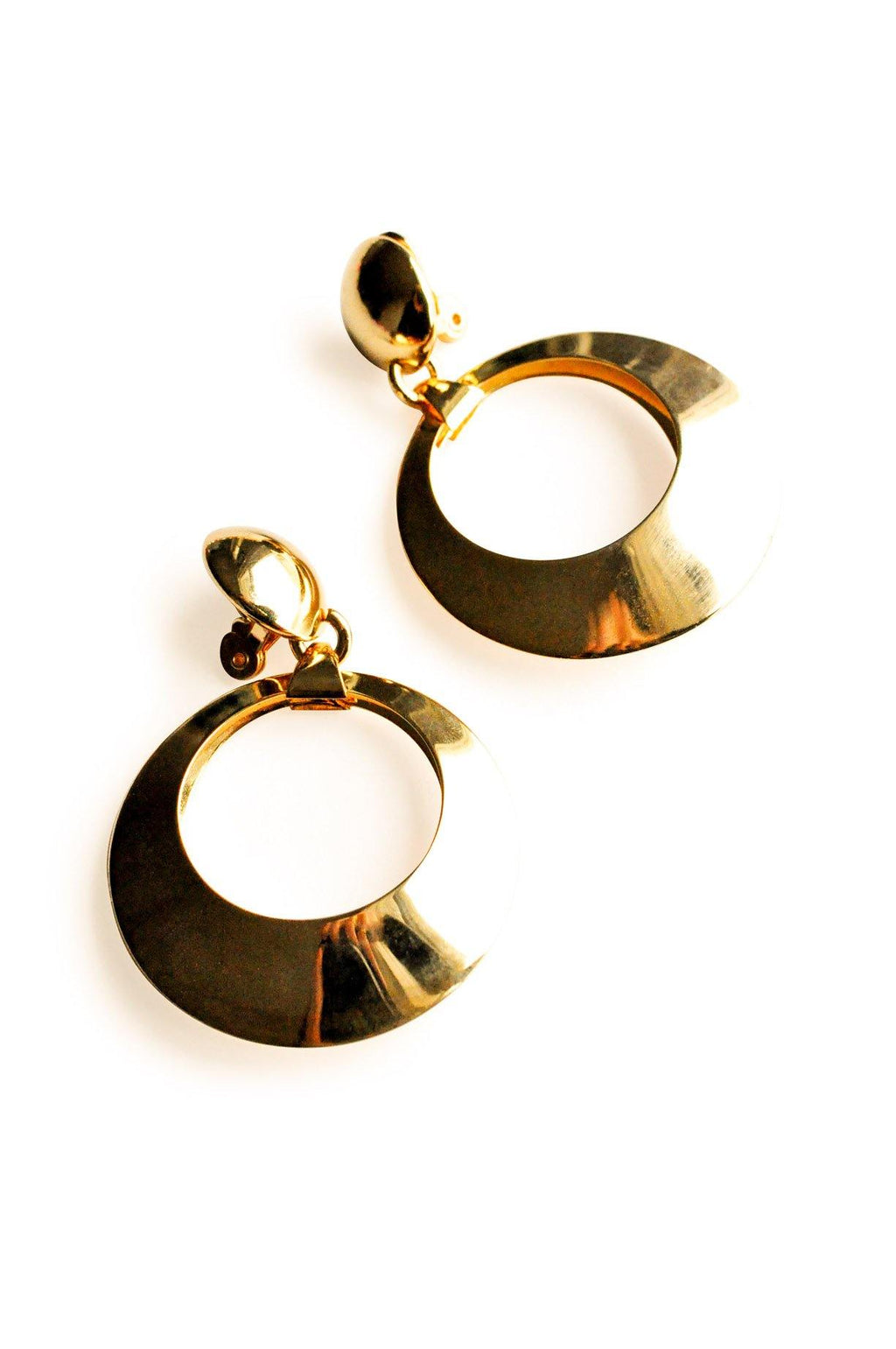 Statement Hoop Clip-on Earrings