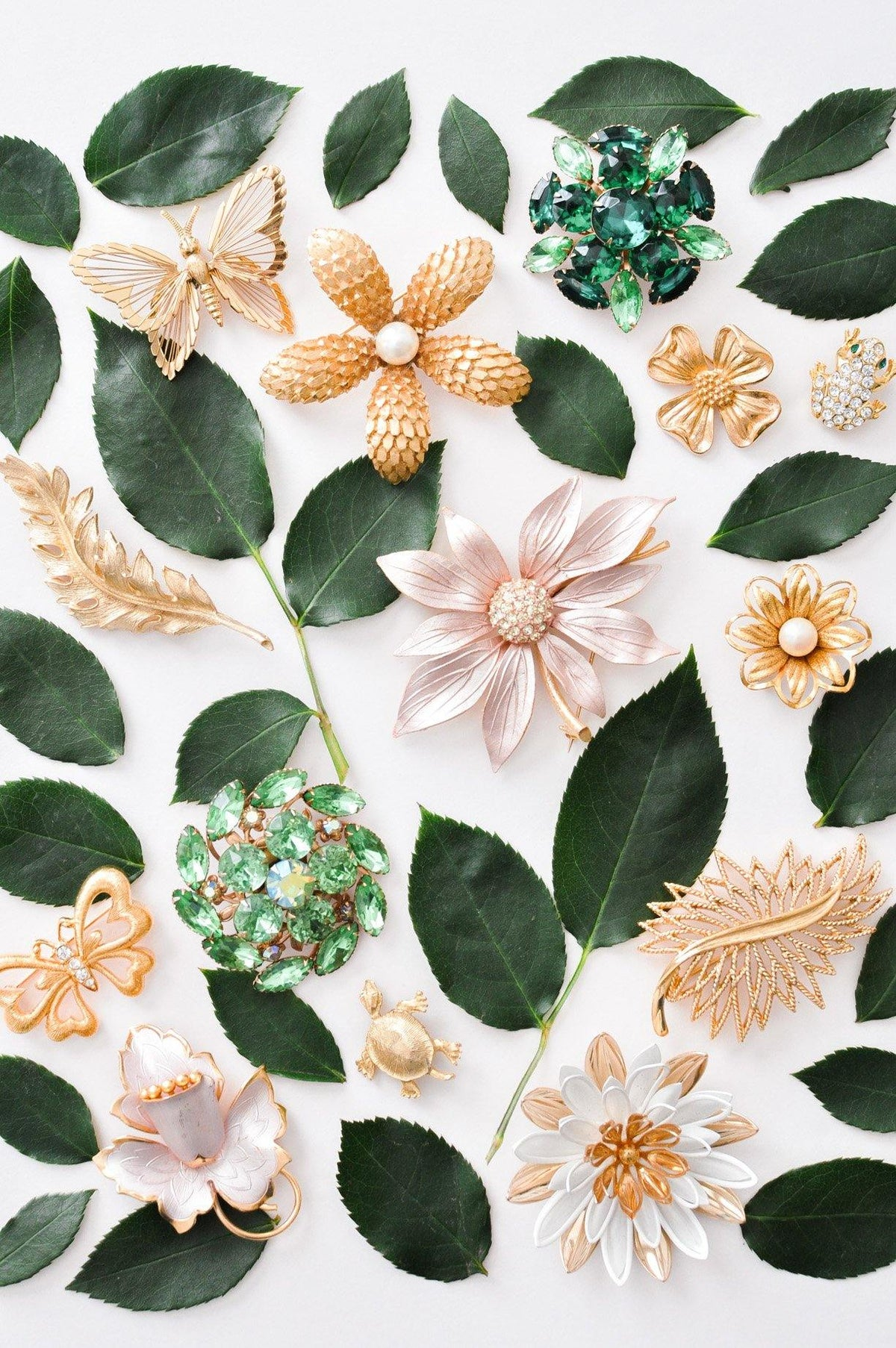 Vintage spring brooches from Sweet & Spark.